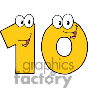 Number 10 Clipart For Kids.
