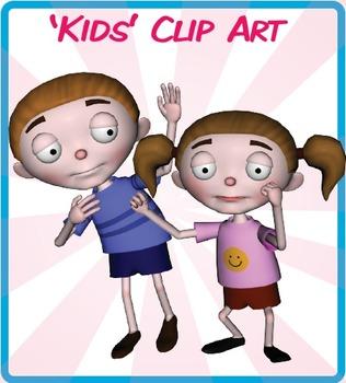 Cartoon Kids Clip Art.