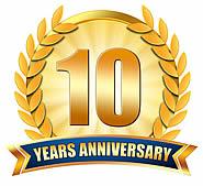10 Year Work Anniversary Clipart.