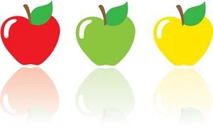 Trio Of Ripe Apples.