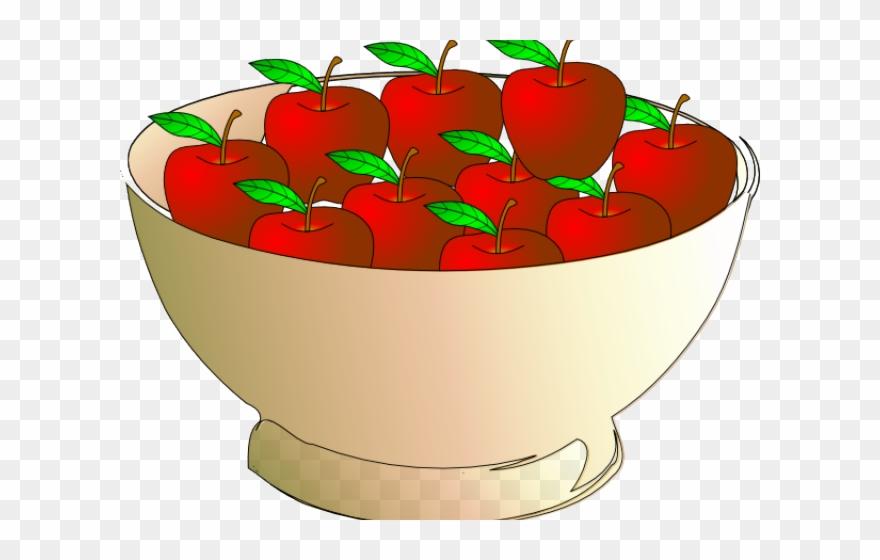 Apple Clipart Bowl.