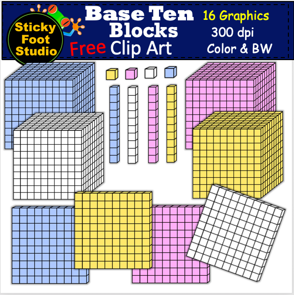 Base Ten Blocks Clip Art Group (+), HD Clipart.