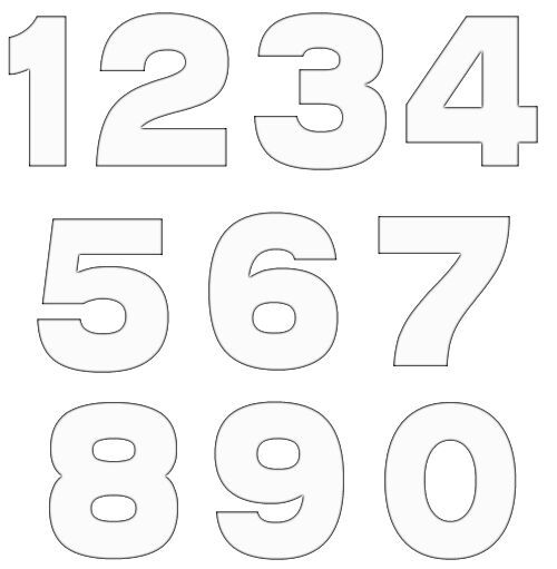 Free Black And White Number Clipart, Download Free Clip Art.