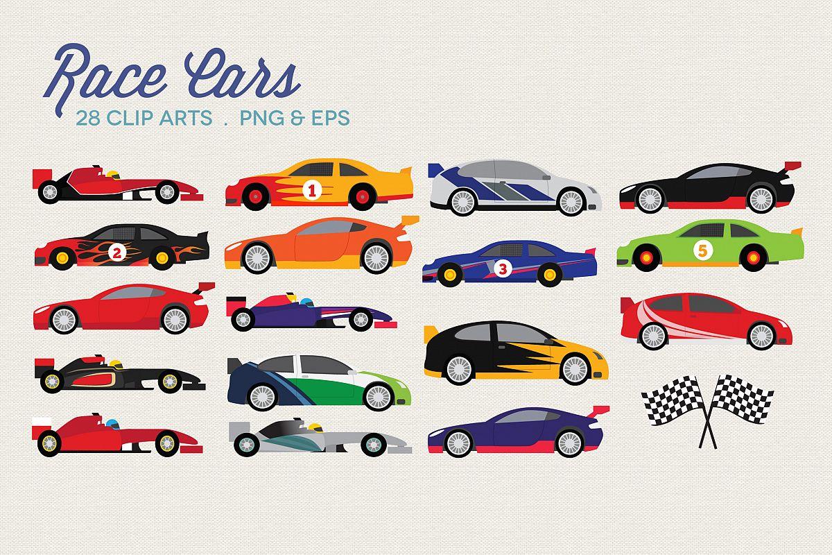 Race Cars Clipart.