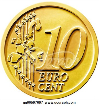 10 Cents Clipart Ten 10 Cent Euro Coin #z0DFiS.