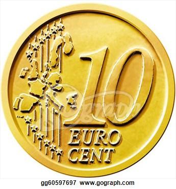 10 Cents Clipart Ten 10 Cent Euro Coin #z0DFiS.