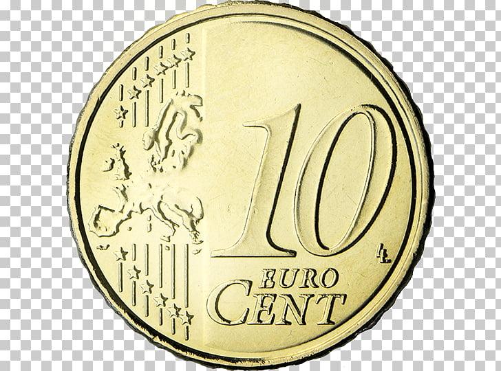 Euro coins 10 euro cent coin 50 cent euro coin, Coin PNG.