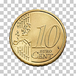 56 10 Cent Euro Coin PNG cliparts for free download.