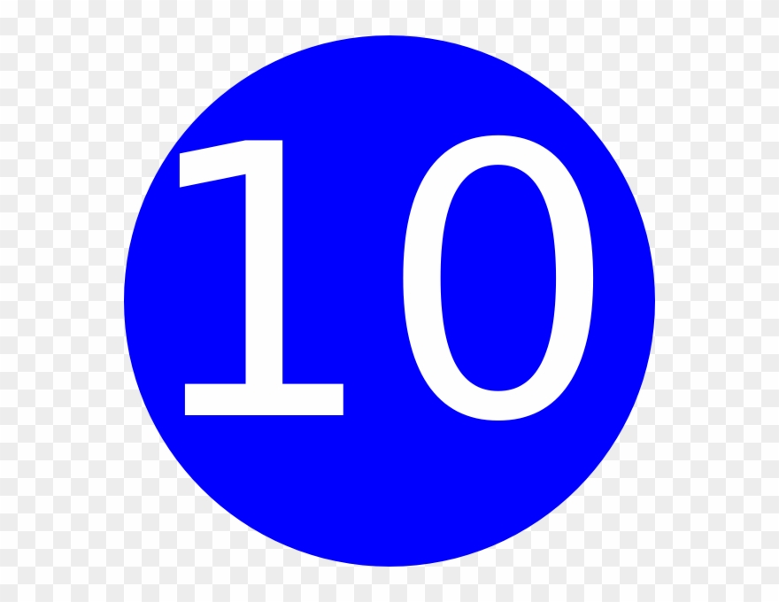 Grand Number 10 Clipart.