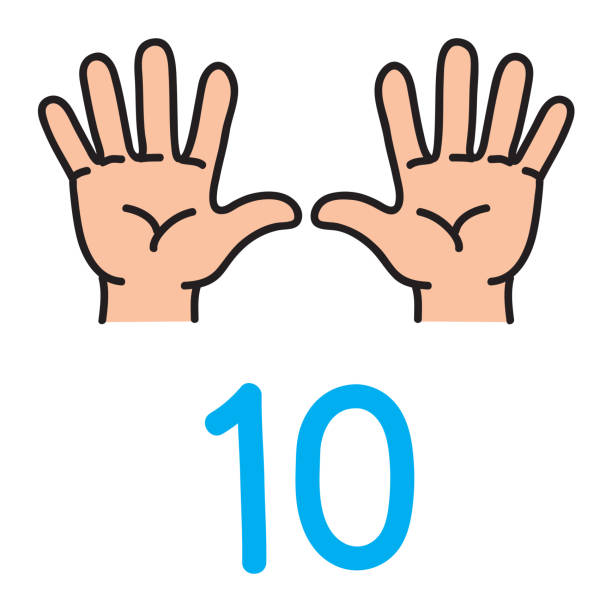 Best Ten Fingers Illustrations, Royalty.