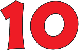 Number 10 Clipart.