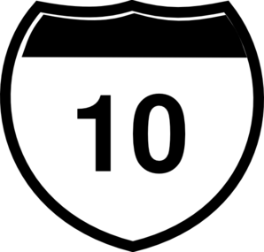 Interstate Sign I 10 Clip Art at Clker.com.