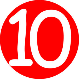 Red, Rounded,with Number 10 Clip Art at Clker.com.