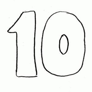 Ten Clipart Black And White.