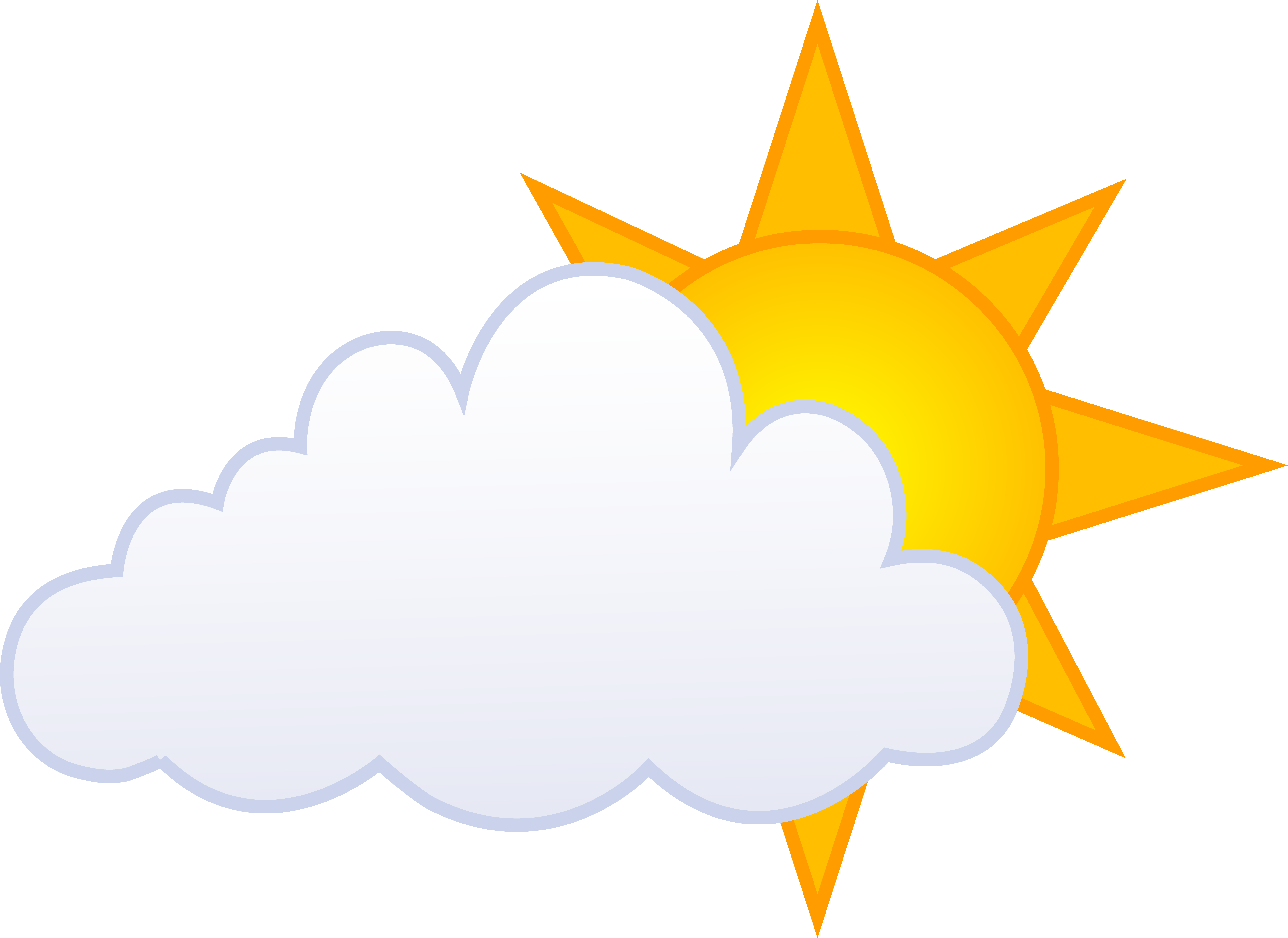 Clouds clipart partly cloudy #10.