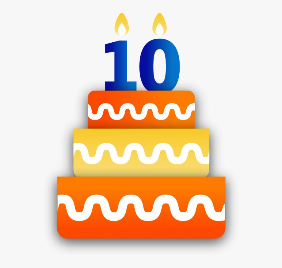 Happy Anniversary Clipart 10th.