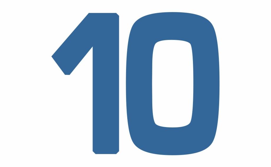 10 Number Png Transparent Image.