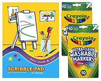 Amazon.com: Crayola Ultra Clean Washable Markers, Fine Line.