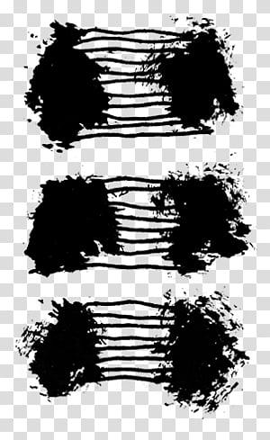 Brushset paint and scribble, black artwork transparent.