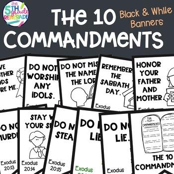 10 Commandments Clip Art & Worksheets.