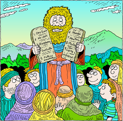 Image: Moses and the 10 Commandments.