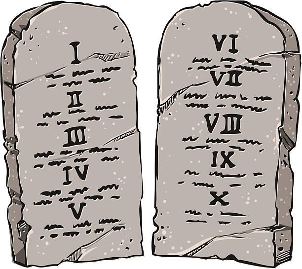 Best Ten Commandments Illustrations, Royalty.