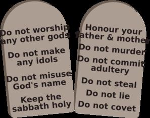 Ten Commandments In Hebrew Clip Art at Clker.com.