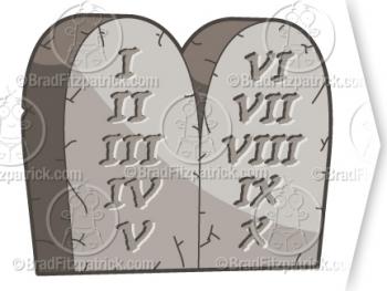 Christian 10 Commandments Clip Art.