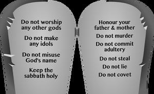 81 moses ten commandments clip art.