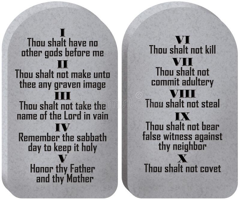 Commandments Stock Illustrations.