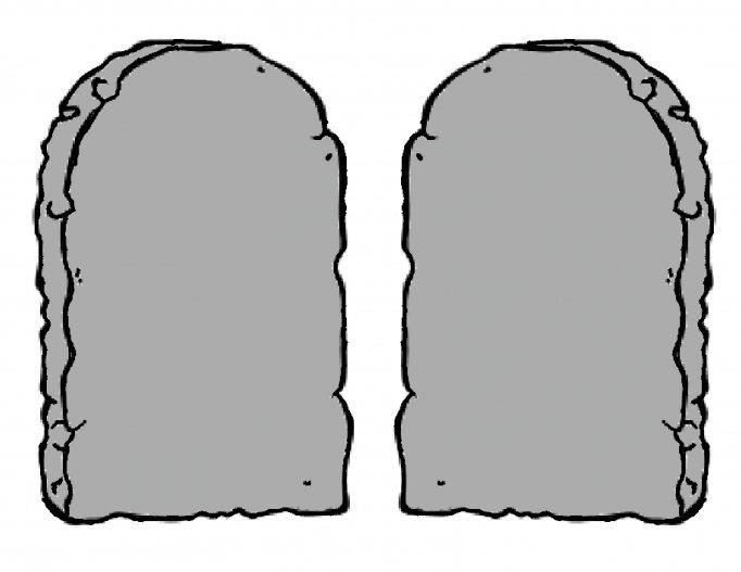 Ten Commandments Stone Tablets Clipart.