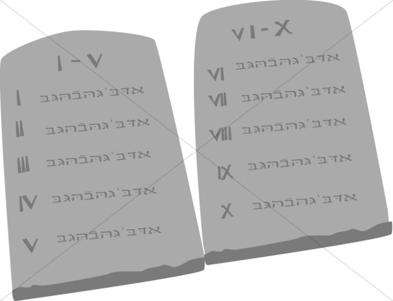 Ten Commandment Tablets.