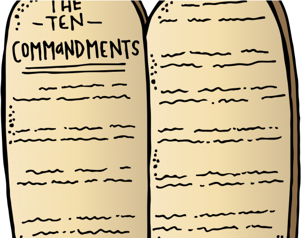 Tablet Clipart Ten Commandments.