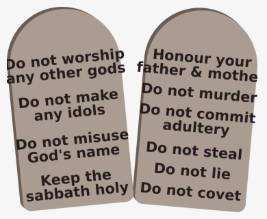 Free 10 Commandments Clip Art with No Background.