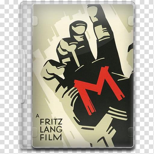Movie Icon Mega , M, M DVD case cover transparent background.