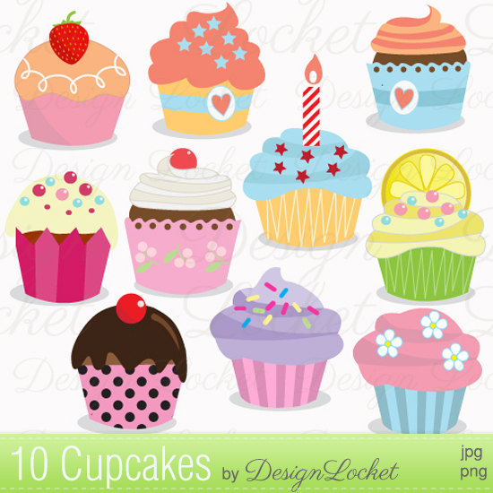 1806 Cupcakes free clipart.