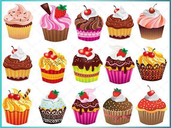 Bakery Cupcake Clipart Clip Art of Digital by.