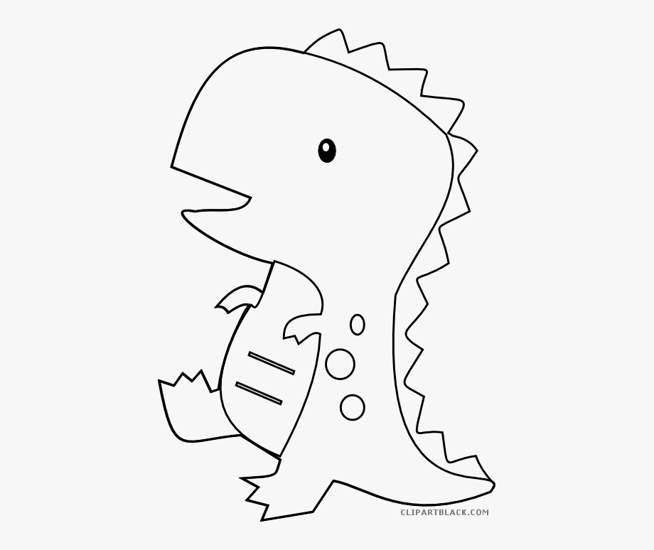 Dinosaur Clipart Black And White.