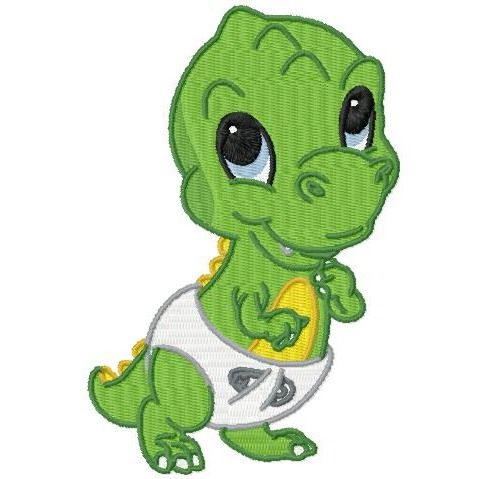 10 Cute Baby Dinosaur Designs in Three Sizes.