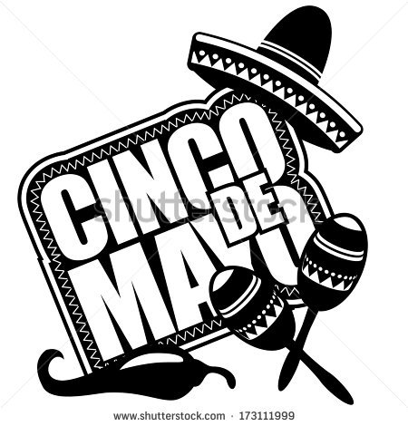Cinco de mayo clipart black and white 2 » Clipart Station.