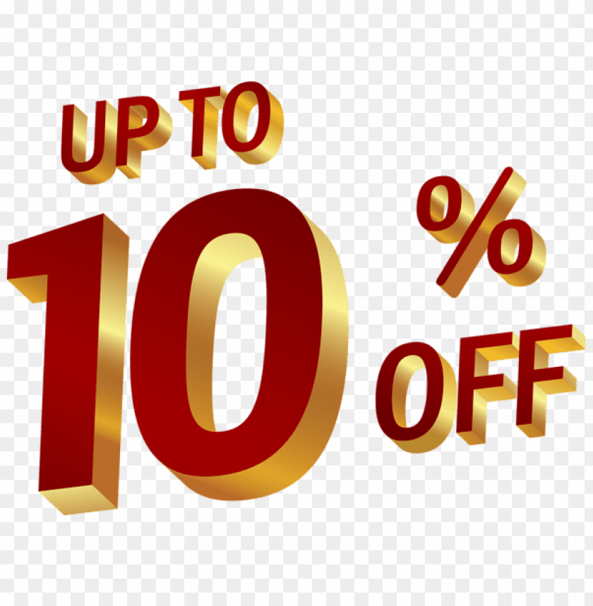 Download 10 percent discount clipart png photo.