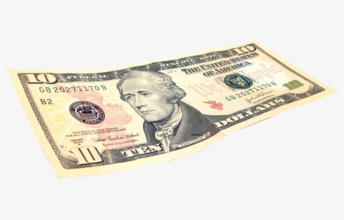 Free Ten Dollar Bill Clip Art with No Background.