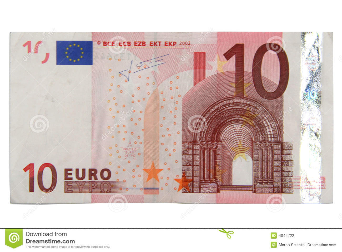 10 Euros Stock Photography.