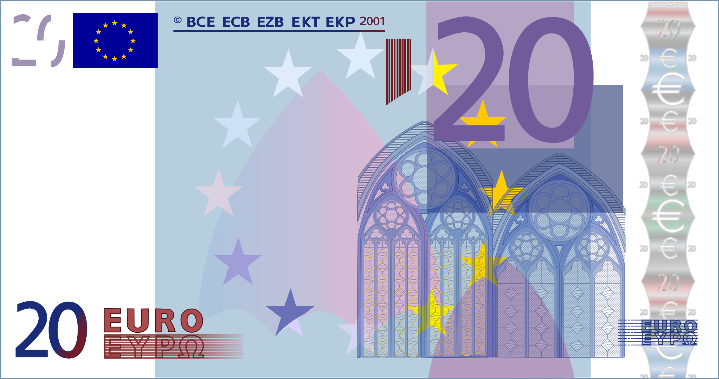 Euro notes clipart - Clipground