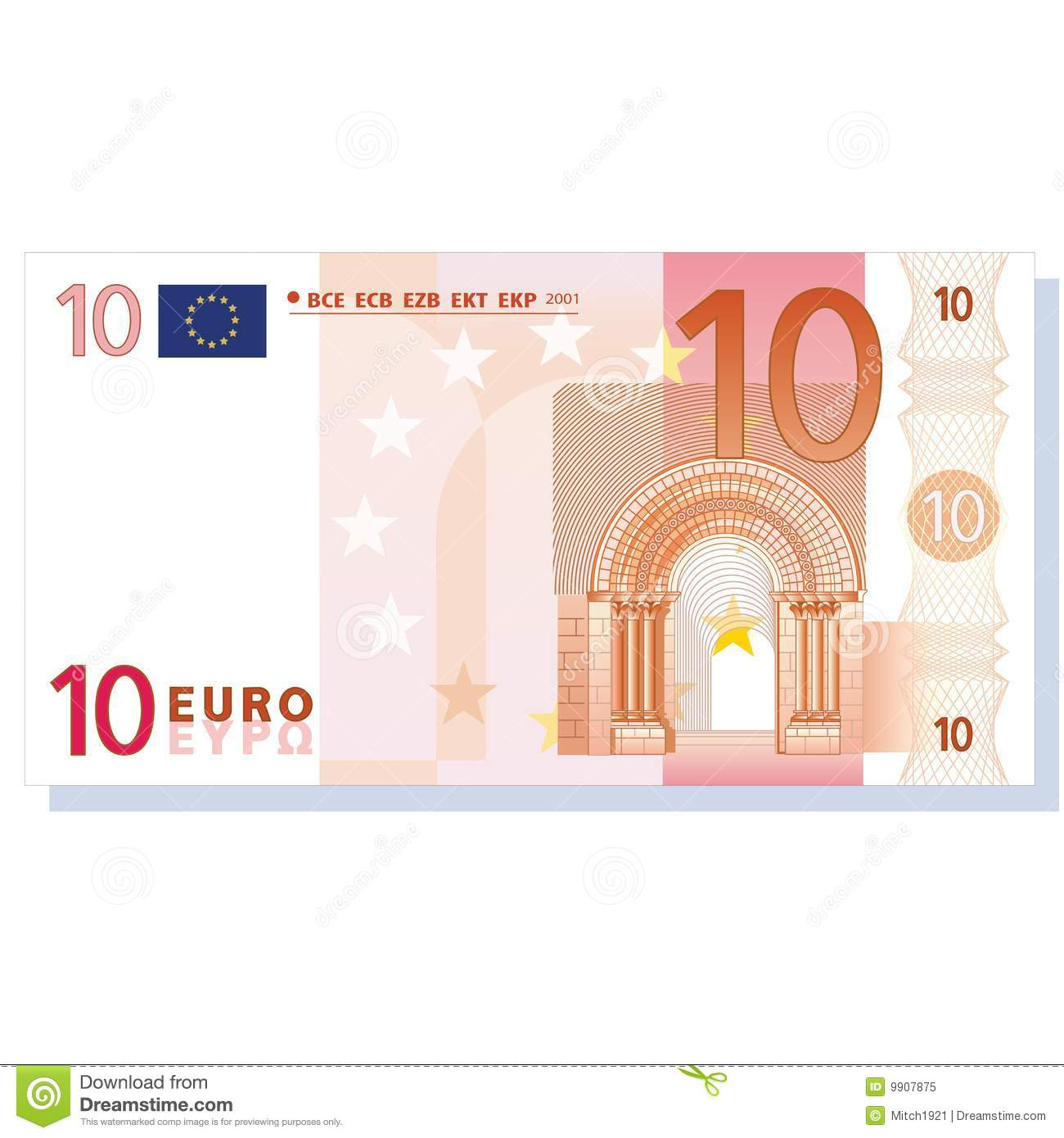 Euro Banknote Vector Royalty Free Stock Photo.