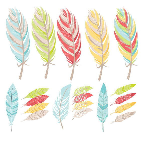 Professional Tribal Feathers Clipart & Vectors in Fresh.