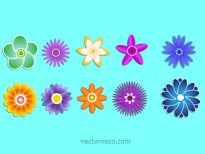 Flower Clip Art Free vector.