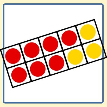 Red and Yellow Ten Frames / 10 Frame Math Clip Art Set Commercial Use.
