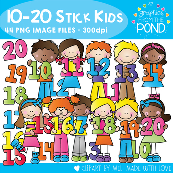 Numbers 10 to 20 Stick Kids.