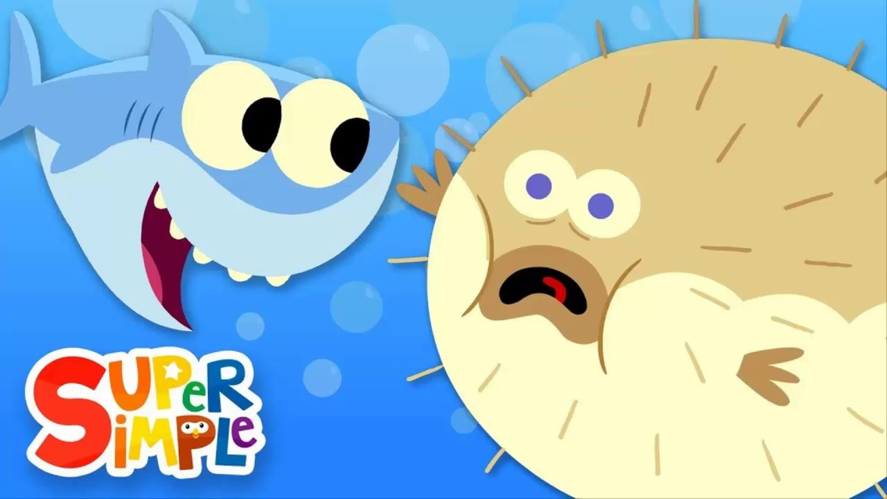 10 Little Fishies Featuring Baby Shark! Kids Songs.